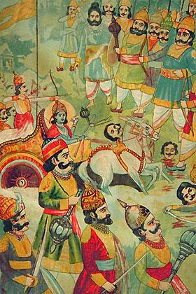 Kauravas und Pandavas