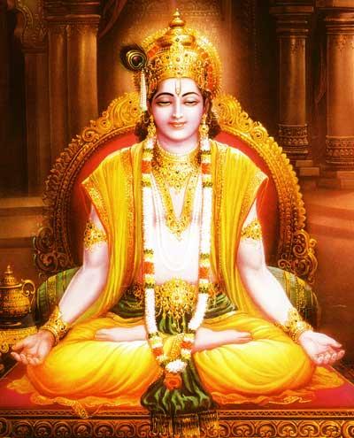 Krishna meditiert