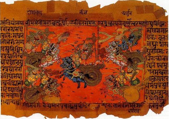 Die große Schlacht zu Kurukshetra