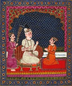 Sanjaya erzählt Dhritarashtra