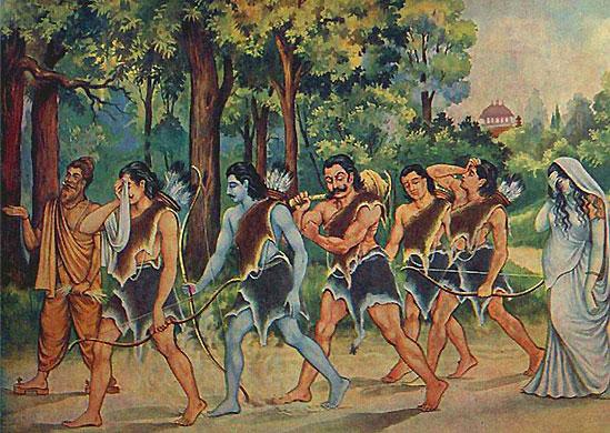Die Pandavas im Exil