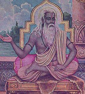 Der Rishi Vyasa erzählt die Geschichte der Bharatas