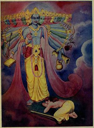 Narada und Vishnu